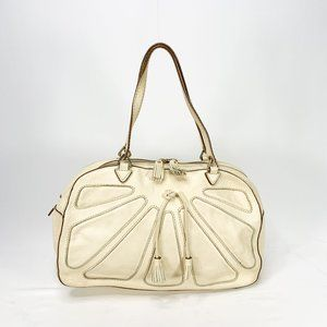 ANYA HINDMARCH Pebbled White Leather Bag